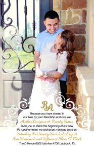 Randy and Amber wedding invitation