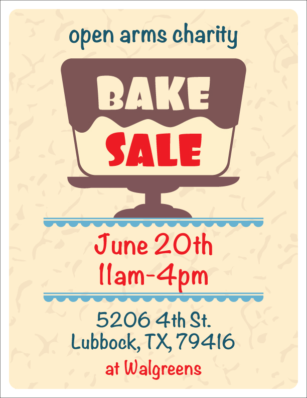 Bake Sale Flyer  Nazario Designs